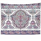 Tapices para colgar en la pared Decoración Círculo de color indio Floral Paisley Can Ornamento Patrón Henna Texturas sin costuras Tapiz vintage Manta de pared Decoración del hogar Sala de estar Dormit