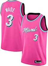 QIXUN Sport Men & Rsquo; S Jersey - NBA Heat 3# Wade Bordado de Malla de Baloncesto Swingman Jersey Four Seasons Universal