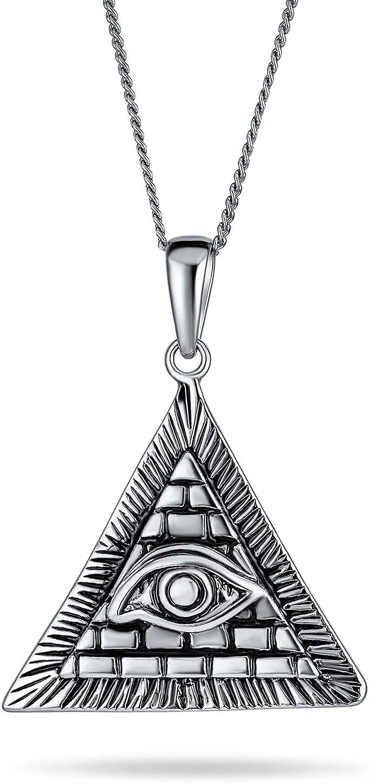 Unisex Great interest Price reduction Free Mason Masonic Ancient Triangl Talisman Mystic Symbol