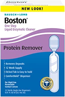 Bausch & Lomb Boston One Step Liquid Enzymatic Cleaner, Protein Remover 3.60 mL ( Pack of 3)