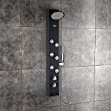 Jaaz Clyde ABS Plastic with 18 Silicon Rubber Nozzles Shower Panel (Black, OTI1)