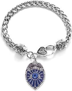 police metal bracelet