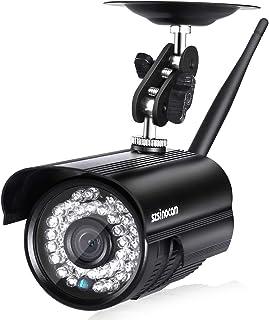 Szsinocam IP Cámara Exterior Seguridad Vigilancia WiFi P2P 720P ONVIF CCTV Detección de Movimiento IR-Cut Vision Nocturna Compatible con iOS Android Negro