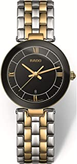 Rado Women's Black Dial Metal Band Watch - R48871173