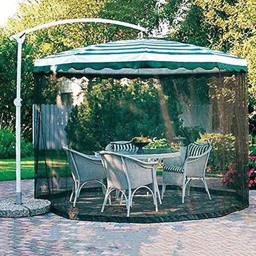 HGYYIO Draussen Moskitonetz Sonnenschirm Für Den Gartenschirm Insektensicheres Sonnenschutzdesign Insektenschutz 300 x 230 cm Polyesterfasermaterial Schwarz