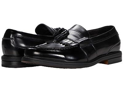 Nunn Bush Keaton Moc Toe Kiltie Tassel Loafer (Black Polished) Men