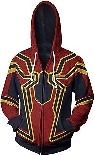 W YU Superhero Halloween Cosplay Costume Zipper Hoodie