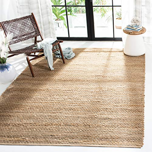 Safavieh Cape Cod Collection CAP355A Hand Woven Flatweave Natural Jute Area Rug (10' x 14')