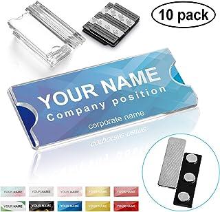Wukong 10 piezas Placas de identificación de aluminio magnético,con imán de 3 puntos para un agarre fuerte en la ropa, tam...
