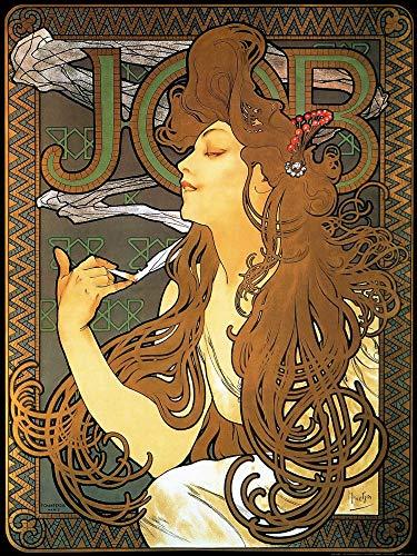 1art1 Alphonse Mucha Poster Reproduction - Job, 1896 (80 x 60 cm)