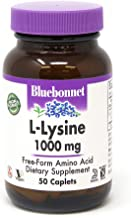 Bluebonnet L-Lysine 1000 mg Caplets, 50 Count