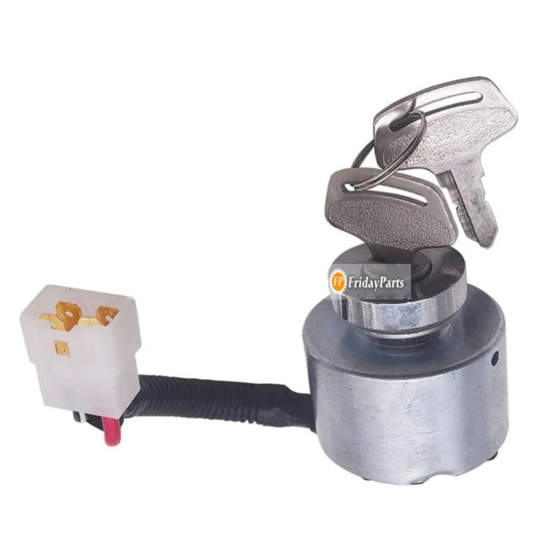 FridayParts List price 12V Ignition Switch with 9-0911 Under blast sales Key for Kubota 90911