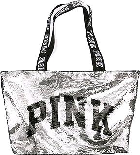 Victoria`s Secret PINK Flip Sequin Bling Logo Tote Bag