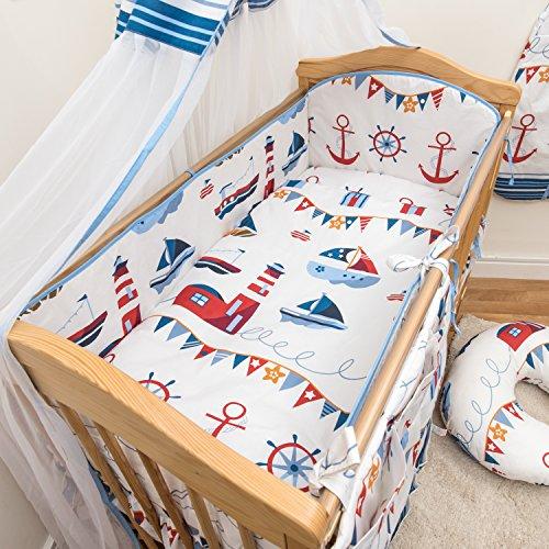 6 pièces Chambre Parure de lit pour lit bébé 140x70 cm - motif 16
