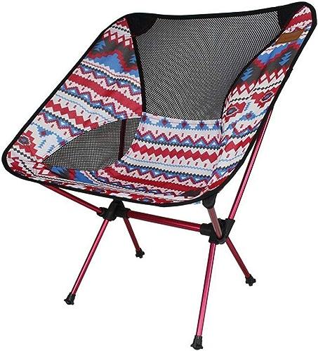 WZLDP Chaise Pliante réglable en Aluminium pour extérieur, Chaise de Lune Portable Ultra-légère, Chaise de Camping pour Les Loisirs sur la Plage Chaise de Salle à Manger