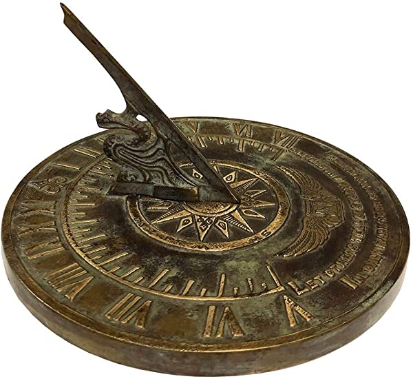 Rome Colonial Sundial In Patina Finish