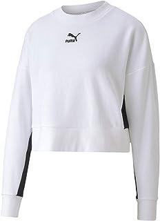 PUMA Women's Classics Cropped Crew Sweatshirts