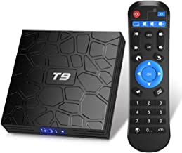 T9 Android TV Box, Android 9.0 TV Box 2GB RAM 16GB ROM with RK3318 Quad-core BT4.0 Support Dual WiFi 2.4G+5.0G 3D 4K Smart...