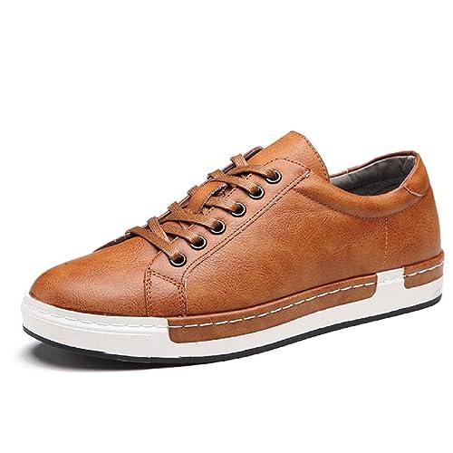 af643cda77cc6 Zapatos de Cordones para Hombre Conducción Zapatillas Cuero Casual Shoes  Attività Commerciale Sneakers Negro Gris Marrón