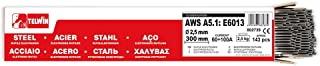 comprar comparacion Telwin - Paquete rutilos acero AWS A5.1: E6013,143 ± 3 piezas aprox. Ø 2,5 x 300 mm, 2,5 kg