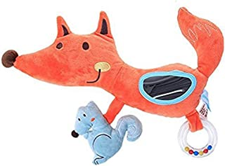 Labebe Soft Hanging Spiral Activity Toy with Mirror for Cot and Stroller - Orange Fox