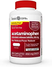 Basic Care Acetaminophen Extended-Release Tablets, 650 Mg, Arthritis Pain, 400Count