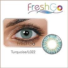 Colores Contacto lente, turquesa, suave, sin grosor como (2unidades) de con caja, cómoda., perfecto para telas claras y oscuras Ojos, Fiesta, Azul/Verde