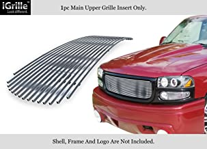 APS Compatible with 2001-2006 GMC Yukon Yukon Denali 1999-2002 Sierra Stainless Steel Billet Grille G65704C