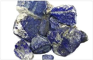 Tree26 Indoor Floor Rug/Mat (23.6 x 15.7 Inch) - Rough Lapis Lazuli Blue Mineral Afghanistan