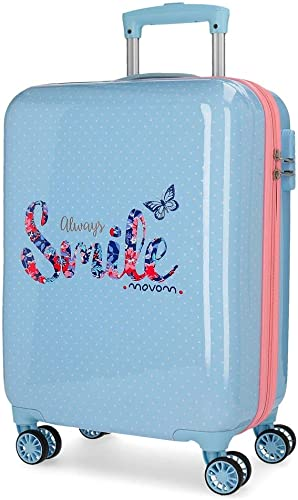 servicio de primera clase Movom Always Smile Hardside Carry-on Carry-on Carry-on Suitcase, 55 cm, azul  calidad auténtica