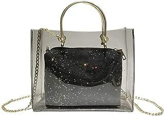 Fine Bag/Handbag Women's Transparent Refraction Chain Bag Waterproof Mother Pack Enough Space Top Handle Shoulder Messenger Bag Shoulder Bag Shopping Travel Portable