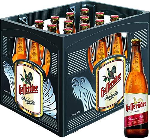 Hasseröder Premium Pils Flaschenbier, MEHRWEG (20 x 0.5 l) im Kasten, Pils Bier