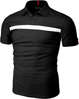 H2H Men's Casual Slim Fit Polo Shirts Short Sleeve Solid Various Styles