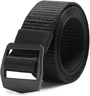 "AXBXCX Non-Slip Tactical Belt Outdoor Military Nylon Webbing 1.5"" Riggers Web Belt with Metal Buckle"