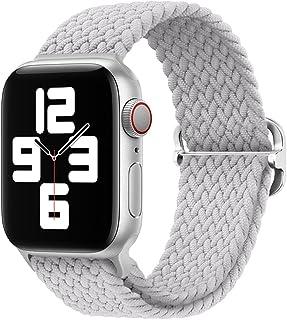 ATHEN pleciony nylonowy pasek regulowany do zegarka Apple Watch Braided Solo Loop bransoletka zastępcza seria 1-7 & SE pas...