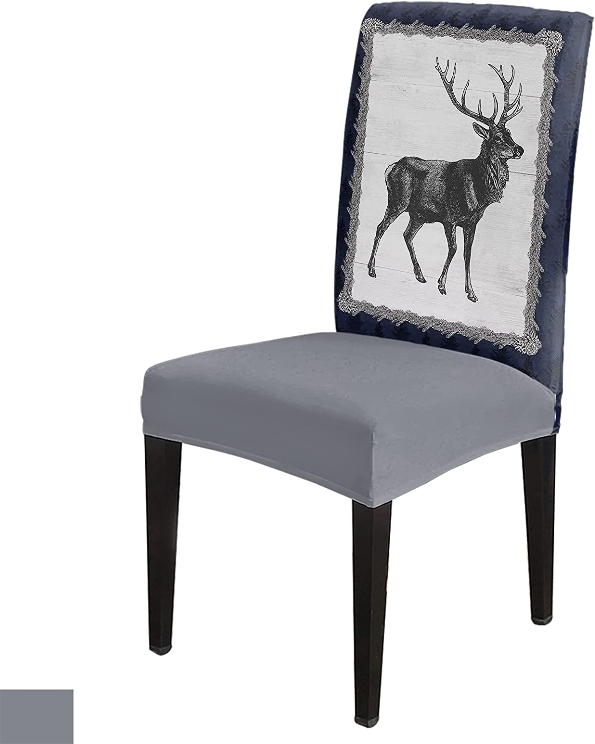 8 Per Set Black White ! Super beauty product restock quality top! Art Drawn Pine for Covers Chair Deer Cheap mail order shopping Berry