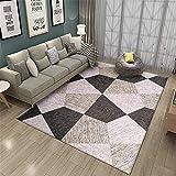 alfombra gateo bebe muebles sala de estar La decoración geométrica de la sala de estar y el dormitorio de la alfombra a juego es suave y resbaladiza alfombra habitacion bebe 200X300CM 6ft 6.7'X9ft 10.