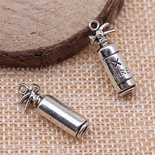 DIY131258 Handmade Charms 10Pcs 23x6x6mm Charms Fire Extinguisher Pendant Fire Extinguisher Charms for Jewelry Making Jewelry Findings - Metal Type: Antique Bronze Plated