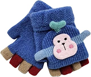 Clothes Set Gift for Baby,Toddler Baby Winter Warm Knitted Convertible Flip Top Fingerless Mittens Gloves
