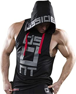Mens Gym Stringer Tank Top Bodybuilding Athletic Workout Muscle Fitness Vest Black