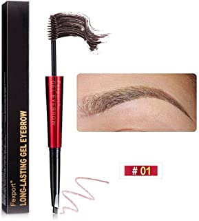 SEFROMAS Micro blading Eyebrow Pen, Fexpor/t Brow Pen Brown, 24 Hours Waterproof Tattoo Pen for Eyebrow, Micro-Fork Tip Br...