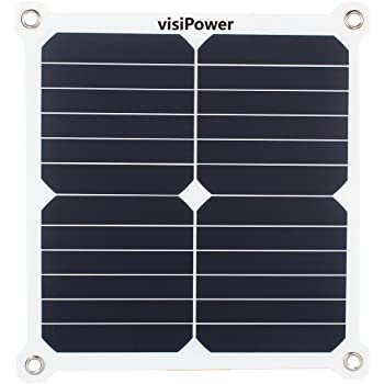 visiPower 11W 5V 2A Portable Solar Panel Cellphone Charger Powerbank Double USB Output