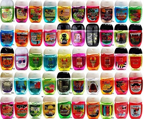 Bath and Body Works Anti-Bacterial Hand Gel 10-Pack PocketBac Sanitizers, Assorted Scents, 1 fl oz each