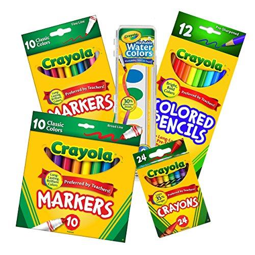 Crayola Back to School Essential Core Pack 5 Piece Bundle Set