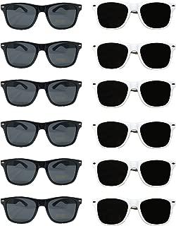 White Black Wedding Party Sunglasses (48) Bulk Sunglasses Wholesale Party Pack 24 White 24 Black Wayfarer Premium Quality Plastic-Wholesale Bulk Adults Women Men