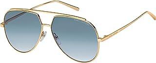 نظارة شمسية موديل 202858 للنساء من مارك جاكوبس، اللون: ذهبي كوب، المقاس: 60