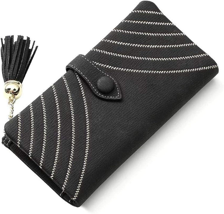 Girls Purse Women's Wallet Scrub Zipper Lady Purse LargeScale Lace MultiFunction Female Wallet Handbag (color   C)