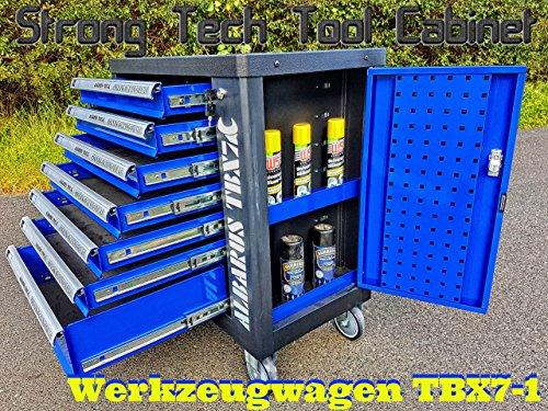 Werkstattwagen Werkzeugwagen ALBARUS Tool Cabinet TBX7-1 stabil 45Kg 7Schubladen Qualität NEU (BLAU)