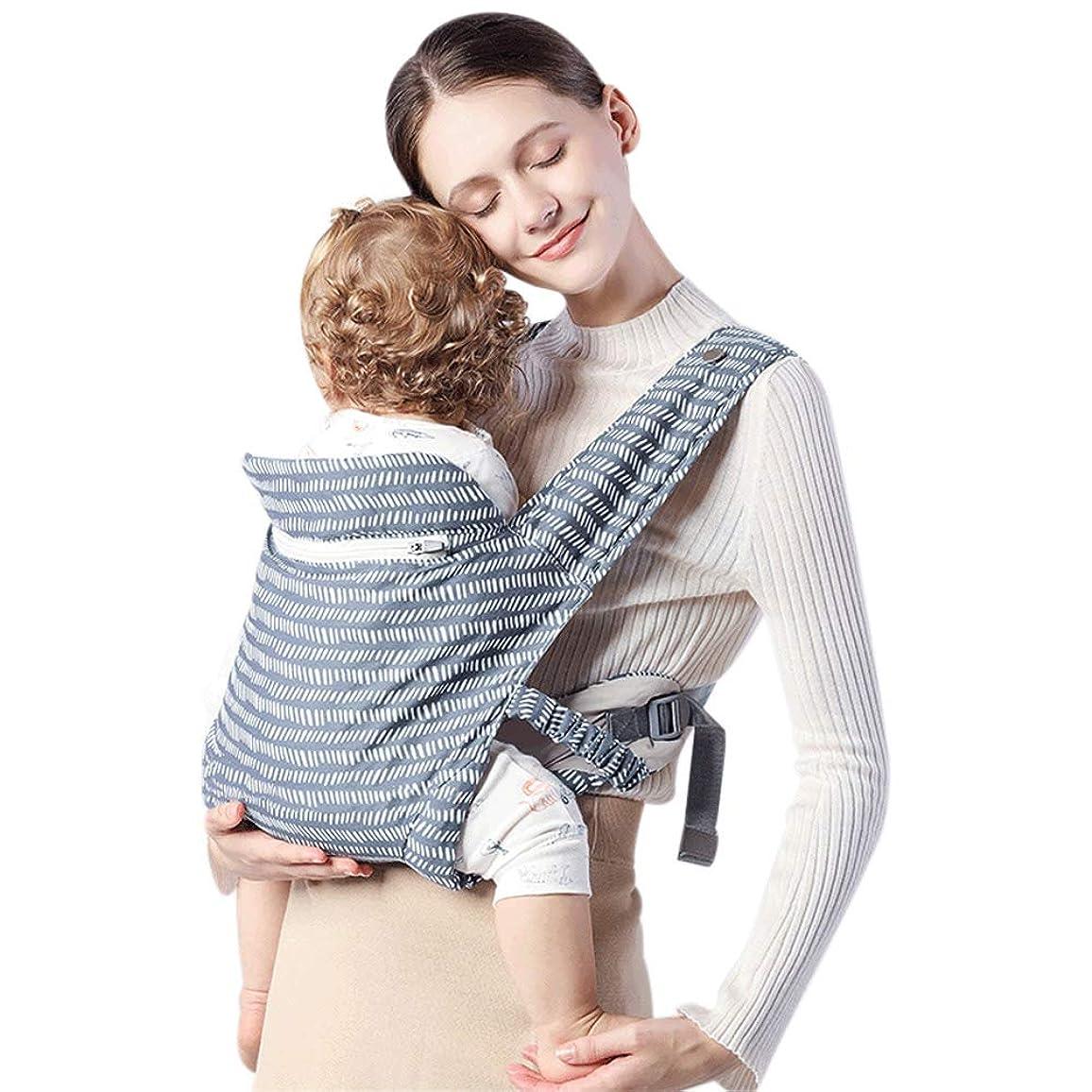 受け継ぐ降雨マニュアルベビーキャリア 抱っこひもケープ 多機能 新生児から3歳まで お出かけ用 対面抱き 前向き抱っこ おんぶ (ブルー)