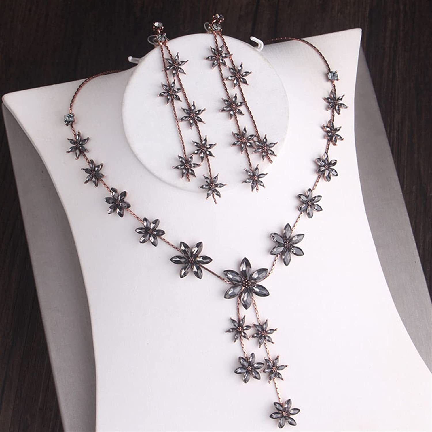YUANBOO Baroque Vintage Black Crystal Jewelry Ranking TOP6 Bridal Rhines Super beauty product restock quality top Sets